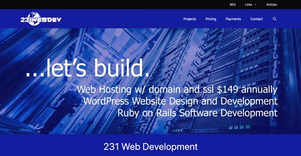 231 Web Development Screenshot