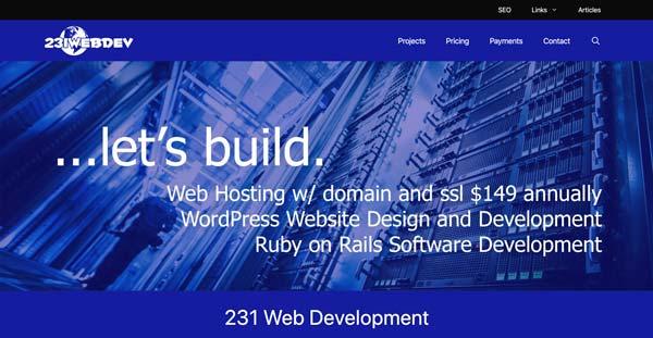 231 Web Development Screenshot