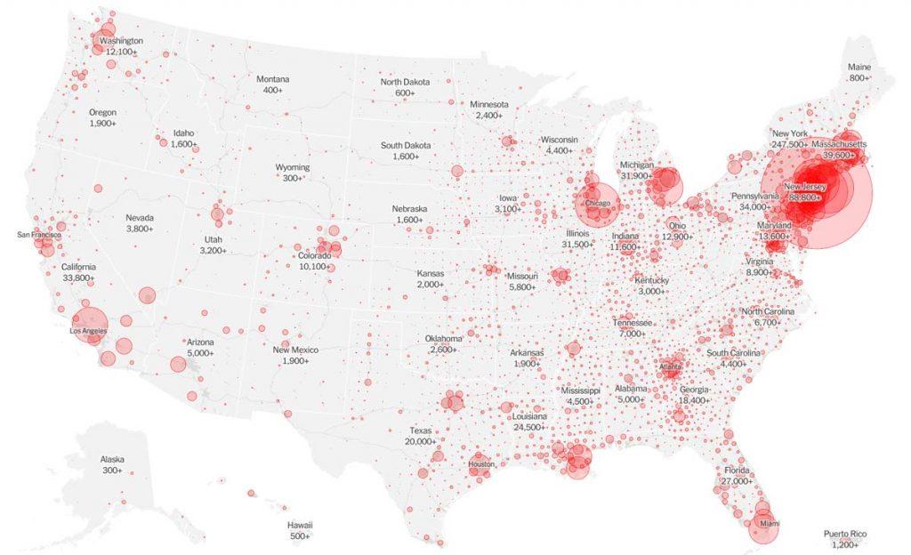 april 21, 2020 covid-19 cases USA