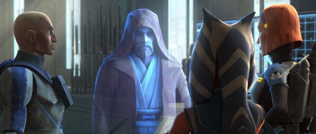 Meeting on Mandalore with Ahsoka, Rex, Bo Katan and Obi Wan